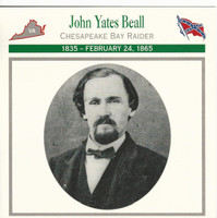 1995 Atlas, Civil War Cards, #27.12 John Yates Beall