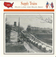 1995 Atlas, Civil War Cards, #27.13 Supply Trains, Petersburg, Virginia