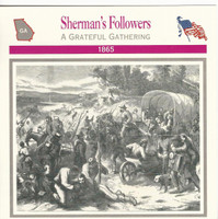 1995 Atlas, Civil War Cards, #27.16 Sherman's Followers, Georgia, Slaves