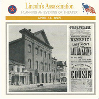 1995 Atlas, Civil War Cards, #28.01 Lincoln's Assassination, Ford Theater