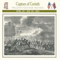 1995 Atlas, Civil War Cards, #28.03 Capture of Corinth, Mississippi