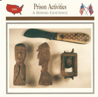 1995 Atlas, Civil War Cards, #28.13 Prison Activities, Folk Art