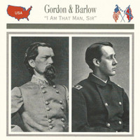 1995 Atlas, Civil War Cards, #28.19 General John Gordon, Francis Barlow