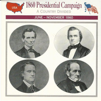 1995 Atlas, Civil War Cards, #29.01 1860 Presidential Campaign, Lincoln