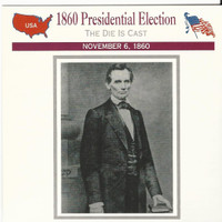 1995 Atlas, Civil War Cards, #29.02 1860 Presidential Election, Abe Lincoln