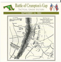 1995 Atlas, Civil War Cards, #29.06 Battle Crampton's Gap, Maryland