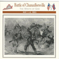 1995 Atlas, Civil War Cards, #29.08 Battle Chancellorsville, Virginia