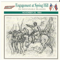 1995 Atlas, Civil War Cards, #29.10 Engagement Spring Hill, Cheatham