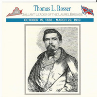 1995 Atlas, Civil War Cards, #29.14 Thomas Rosser, Laurel Brigade