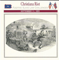 1995 Atlas, Civil War Cards, #30.01 Christiana Riot, Pennsylvania