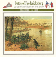 1995 Atlas, Civil War Cards, #30.03 Battle of Fredericksburg, Virginia