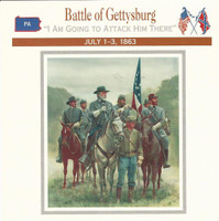 1995 Atlas, Civil War Cards, #30.05 Battle of Gettysburg, Robert E. Lee