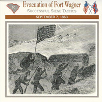 1995 Atlas, Civil War Cards, #31.05 Evacuation of Fort Wagner, Charleston