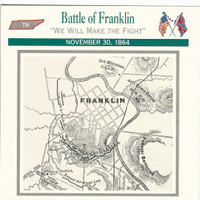 1995 Atlas, Civil War Cards, #31.08 Battle of Franklin, Tennessee