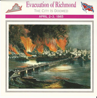 1995 Atlas, Civil War Cards, #31.17 Evacuation of Richmond, Virginia