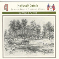 1995 Atlas, Civil War Cards, #33.04 Battle of Corinth, Mississippi