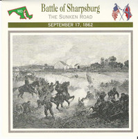 1995 Atlas, Civil War Cards, #33.05 Battle of Sharpsburg, Antietam