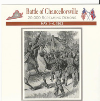 1995 Atlas, Civil War Cards, #33.06 Battle Chancellorsville, General Howard