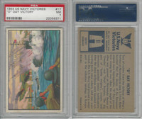 "1954 Bowman, US Navy Victories, #17 ""D"" Day Victory, PSA 7 NM"