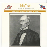 1995 Atlas, Civil War Cards, #34.02 President John Tyler