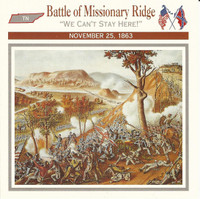 1995 Atlas, Civil War Cards, #34.07 Battle Missionary Ridge, Tennessee