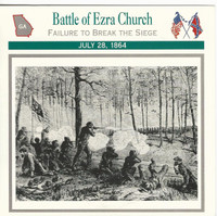 1995 Atlas, Civil War Cards, #34.08 Battle Ezra Church, Georgia