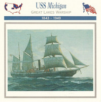 1995 Atlas, Civil War Cards, #34.11A USS Michigan, Ship