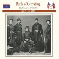 1995 Atlas, Civil War Cards, #35.07 Battle Gettysburg, General Sickles