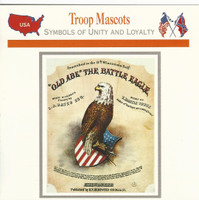 1995 Atlas, Civil War Cards, #35.12A Troop Mascots, 8th Wisconsin Eagle