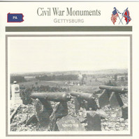 1995 Atlas, Civil War Cards, #35.20 Civil War Monuments, Gettysburg