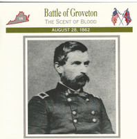1995 Atlas, Civil War Cards, #36.04 Battle Groveton, General Gibbon