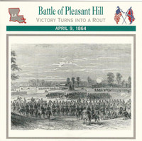 1995 Atlas, Civil War Cards, #37.08 Battle of Pleasant Hill, Louisiana