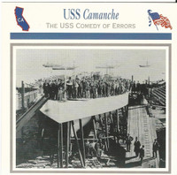 1995 Atlas, Civil War Cards, #37.10 USS Camanche, Ship