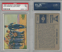 1954 Bowman, US Navy Victories, #21 Los Angeles Captured, PSA 7 NM