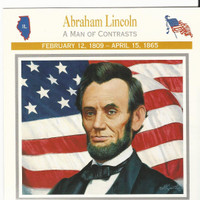 1995 Atlas, Civil War Cards, #38.02 President Abraham Lincoln