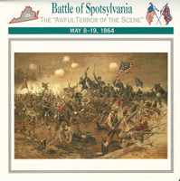 1995 Atlas, Civil War Cards, #38.09 Battle of Spotsylvania