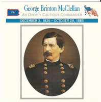 1995 Atlas, Civil War Cards, #38.14A General George B. McClellan