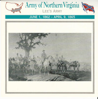 1995 Atlas, Civil War Cards, #38.17 Army Northern Virginia, Robert E Lee