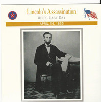 1995 Atlas, Civil War Cards, #39.02 President Abraham Lincoln Assassination