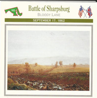 1995 Atlas, Civil War Cards, #39.05 Battle of Sharpsburg, Antietam