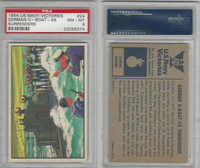 1954 Bowman, US Navy Victories, #24 German U-Boat-58 Surrenders, PSA 8 NMMT