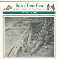 1995 Atlas, Civil War Cards, #40.08 Battle Harris Farm, Spotsylvania