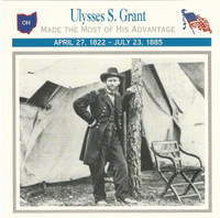 1995 Atlas, Civil War Cards, #40.14 General Ulysses S. Grant