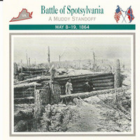 1995 Atlas, Civil War Cards, #50.09 Battle of Spotsylvania, Virginia
