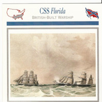 1995 Atlas, Civil War Cards, #50.10 CSS Florida, Ship