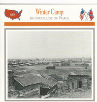 1995 Atlas, Civil War Cards, #50.12A Winter Camp, Manasas, VA