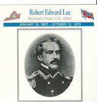 1995 Atlas, Civil War Cards, #50.14 General Robert E. Lee