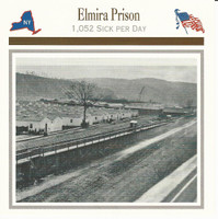 1995 Atlas, Civil War Cards, #50.15 Elmira Prison, New York