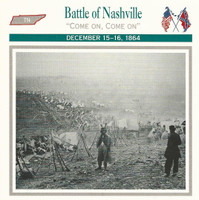 1995 Atlas, Civil War Cards, #51.07 Battle of Nashville, Tenessee