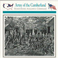 1995 Atlas, Civil War Cards, #51.16 Army of the Cumberland, 21st Michigan